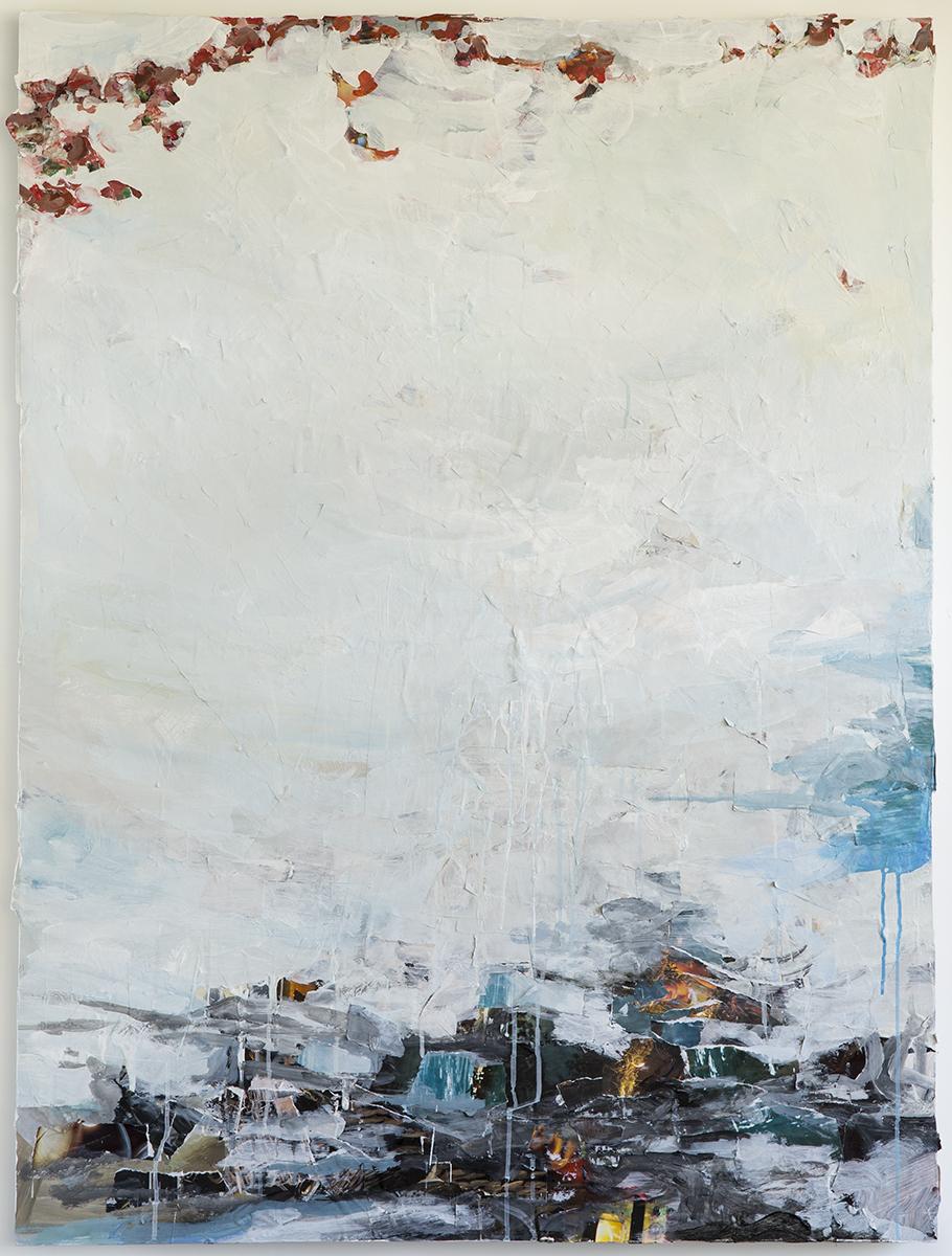 "Tilth II, mixed media on panel, 48 x 36"", 2014"