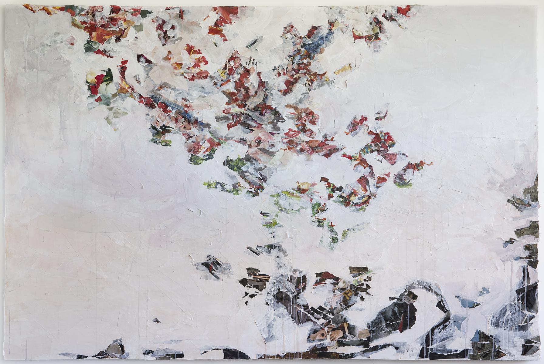 "Tilth I, mixed media on panel, 48 x 72"", 2014"