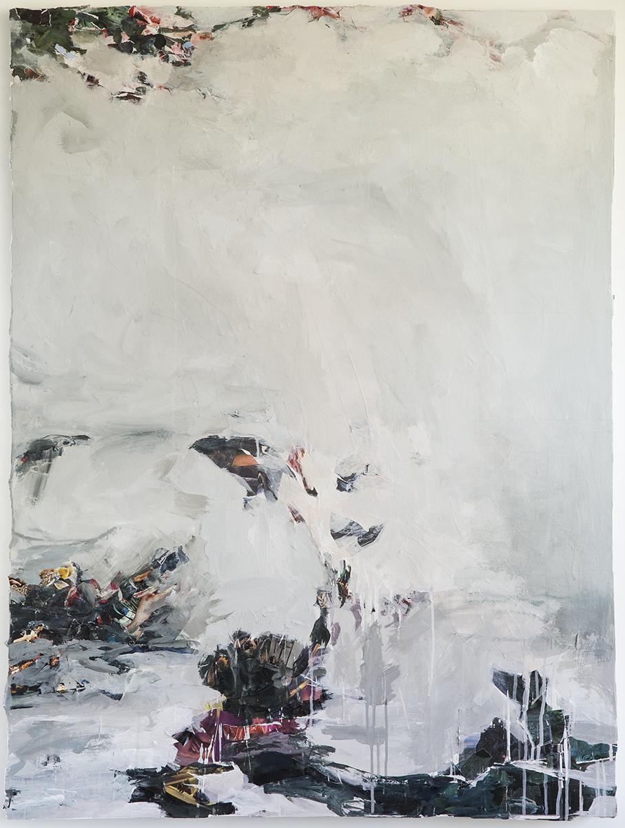 "Tilth III, mixed media on panel, 48 x 36"", 2014"