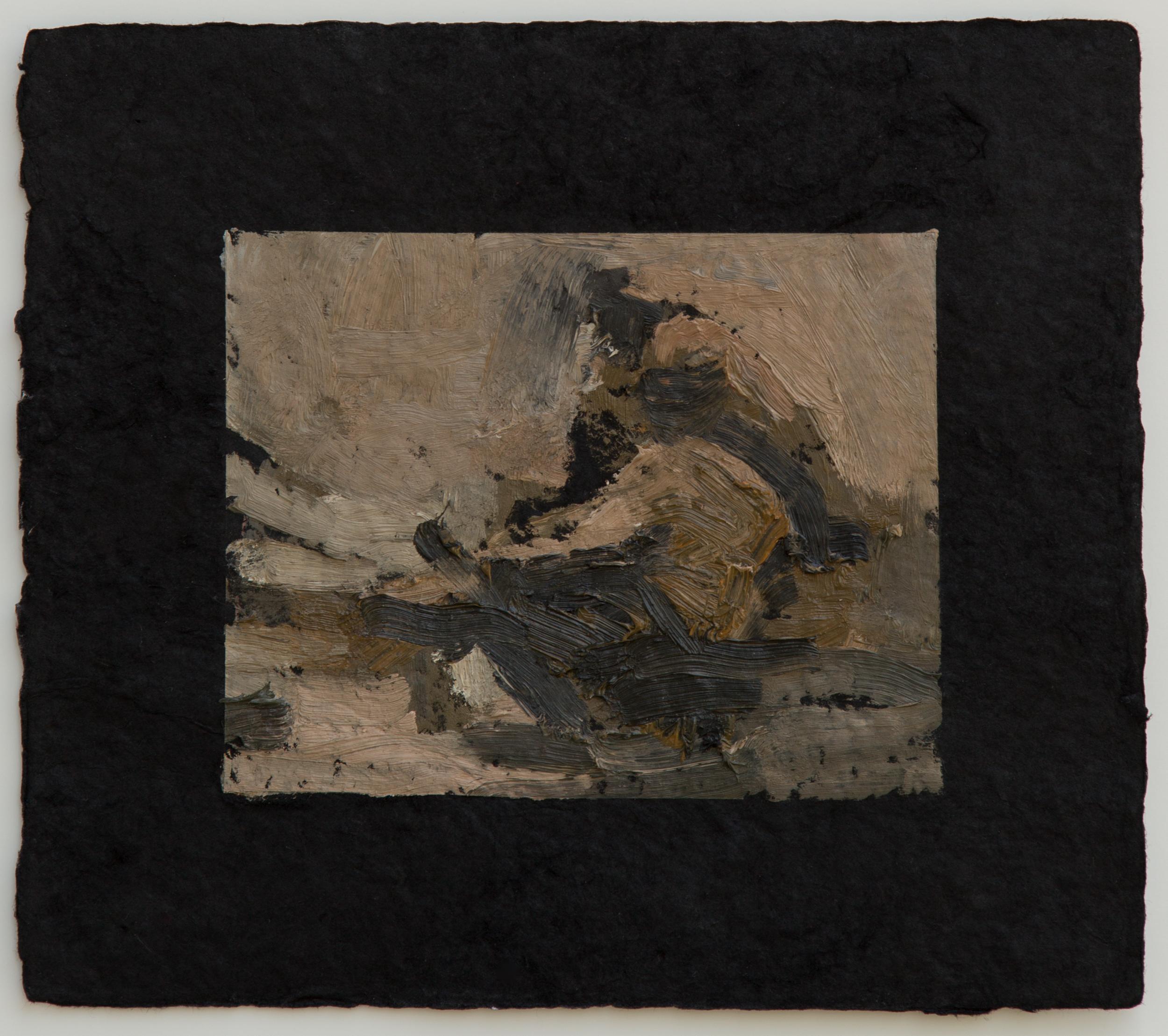 "Campfire study II, 9 x 10"", 2016"