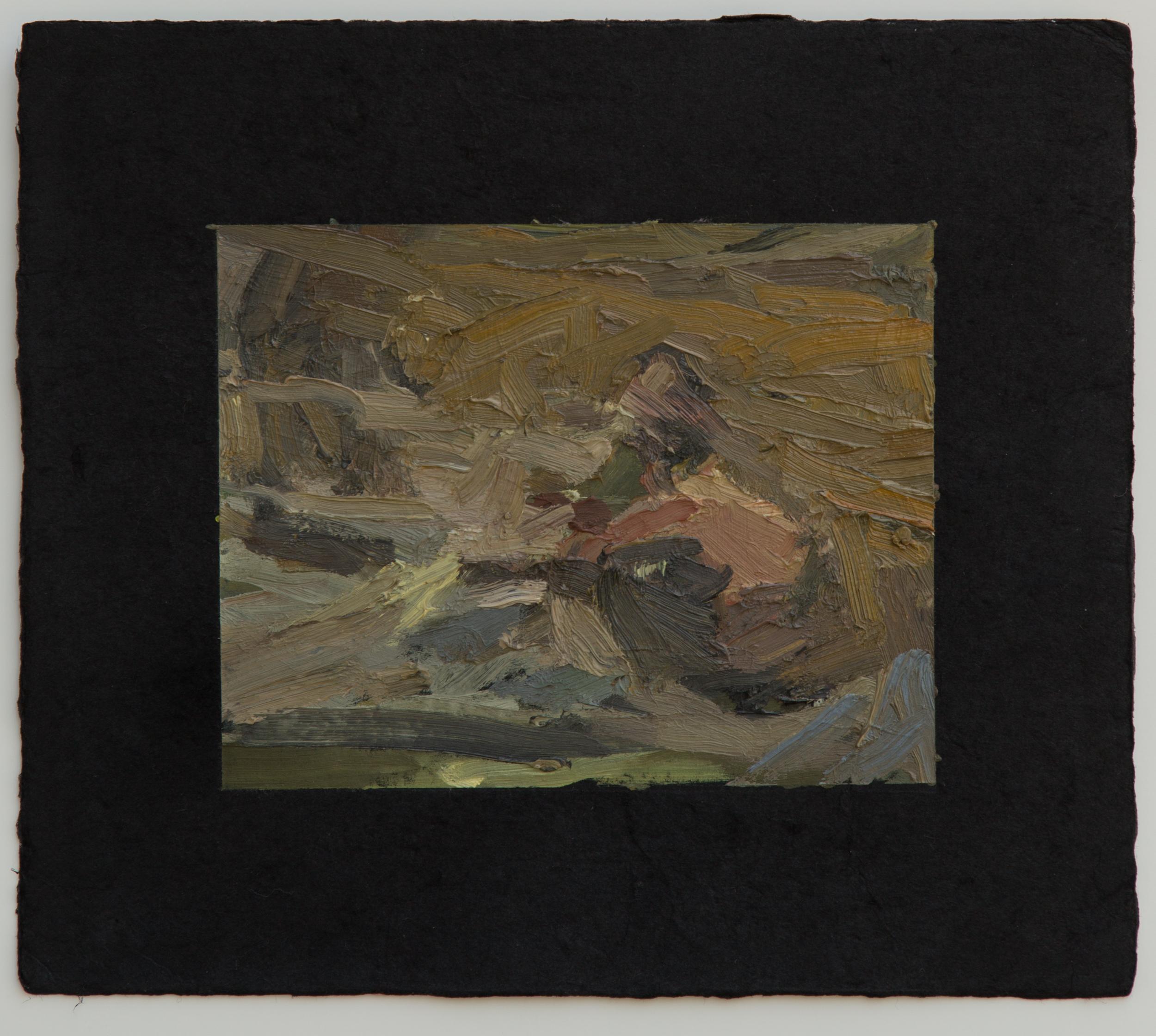 "Campfire study IV, 9 x 10"", 2016"