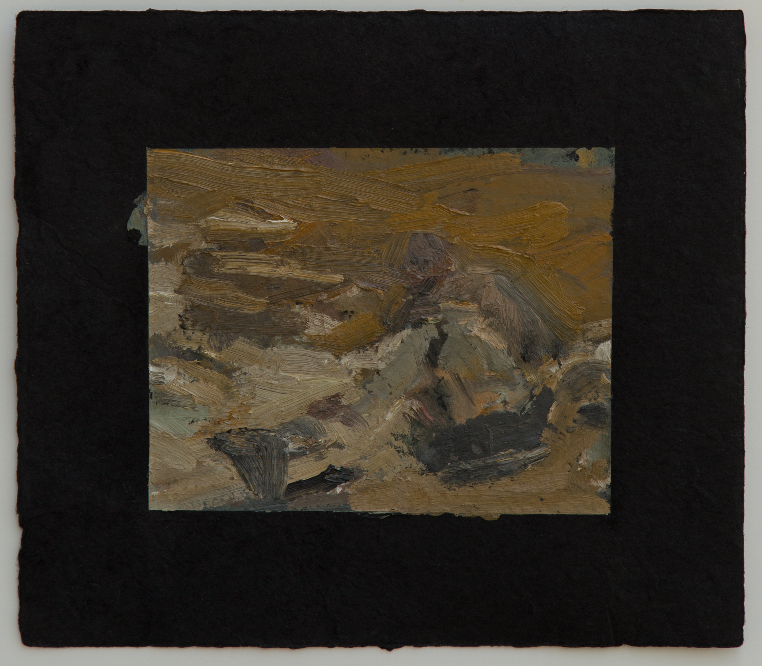 "Campfire study VII, 9 x 10"", 2016"