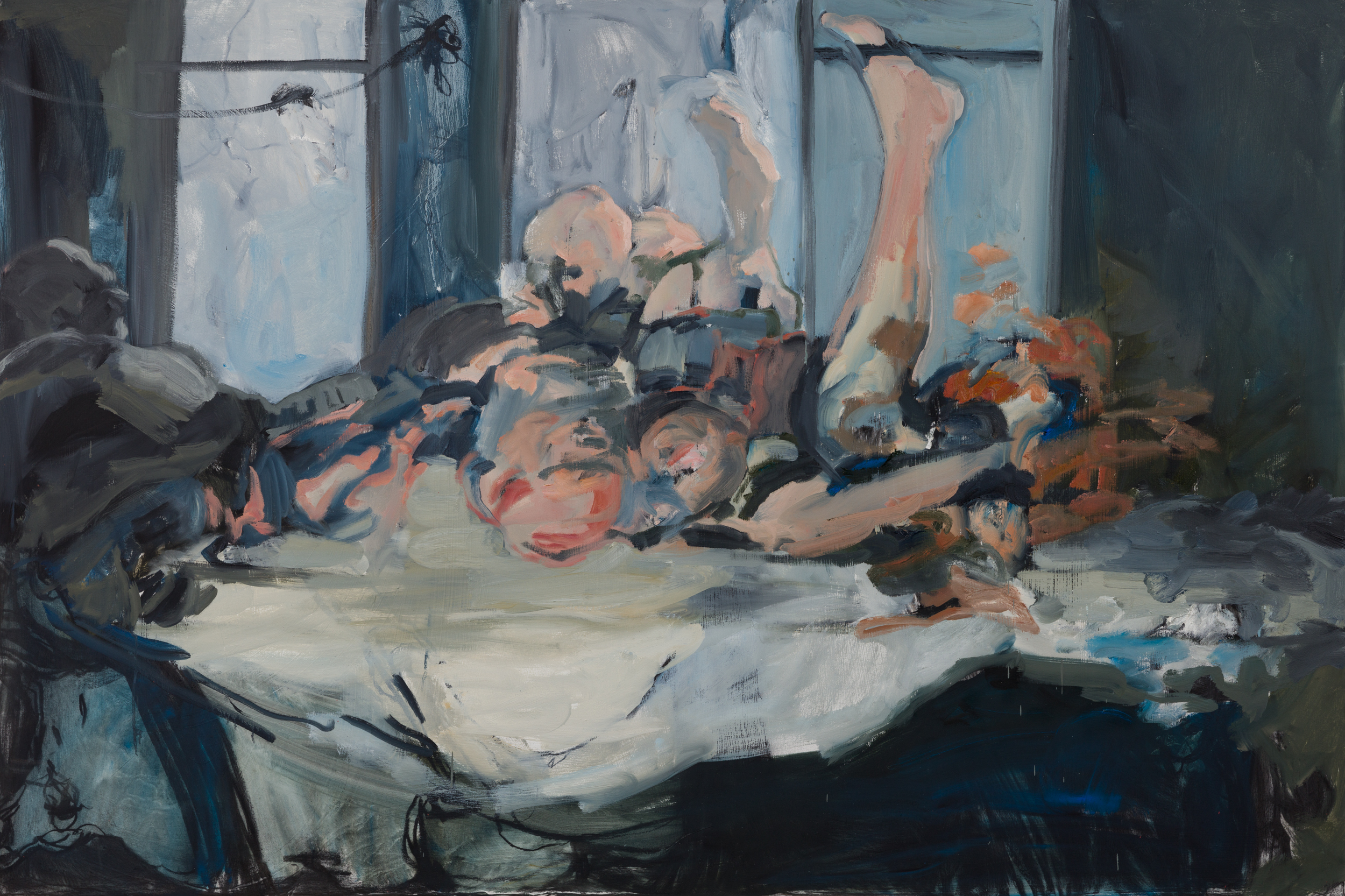 "Feast I , 42 x 72"" Oil on Canvas, 2019"