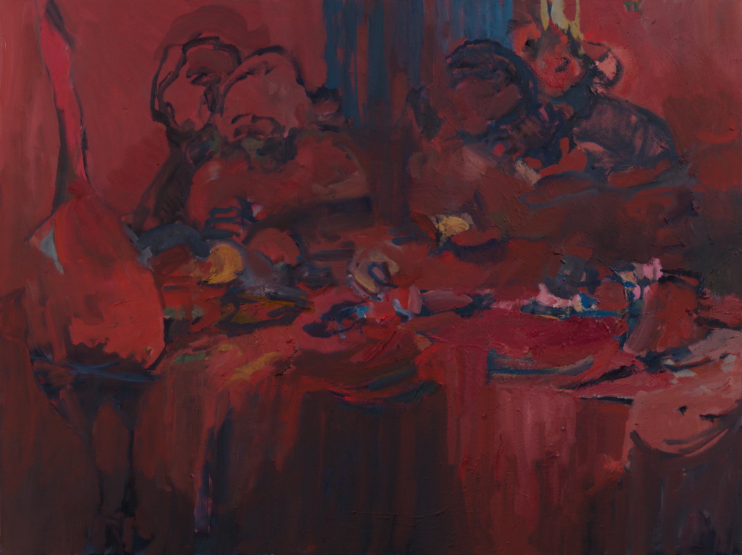 """Last Supper, 36 x48"""" Oil on Canvas 2019"""
