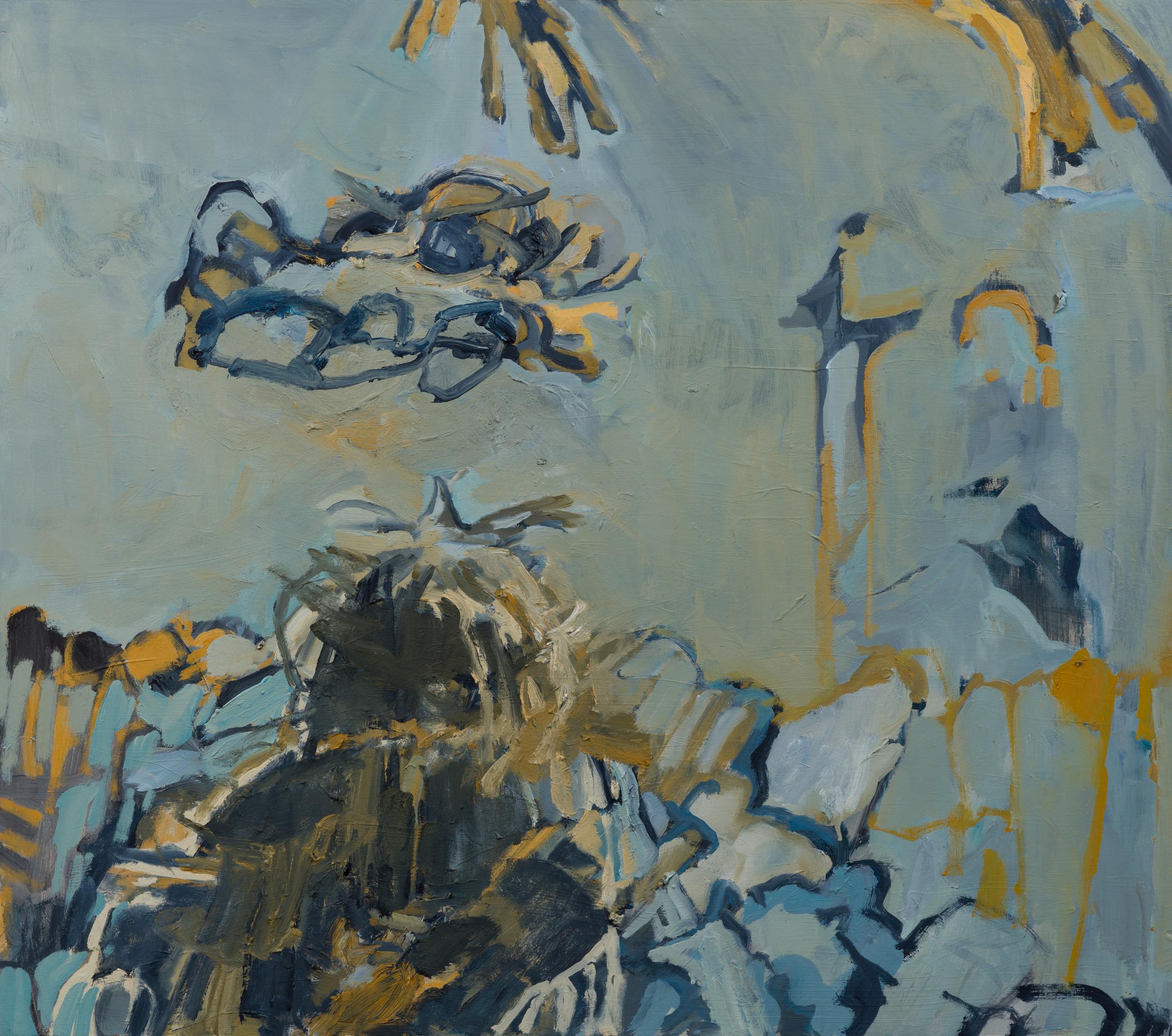 """She II, 30 x 34"""" Oil on Wood Panel, 2019"""