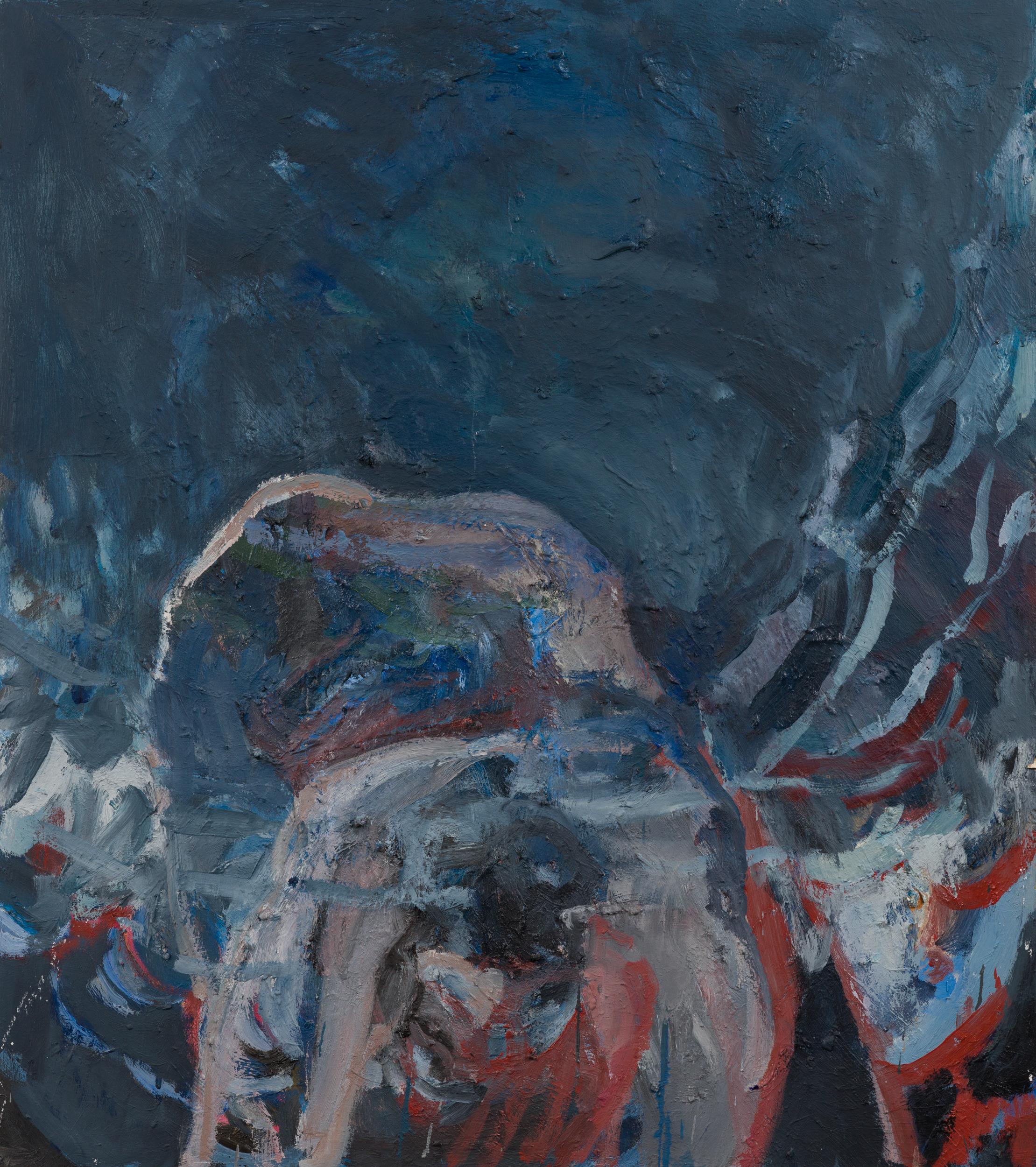 """She III, 34 x 30"""" Oil on Wood Panel, 2018"""
