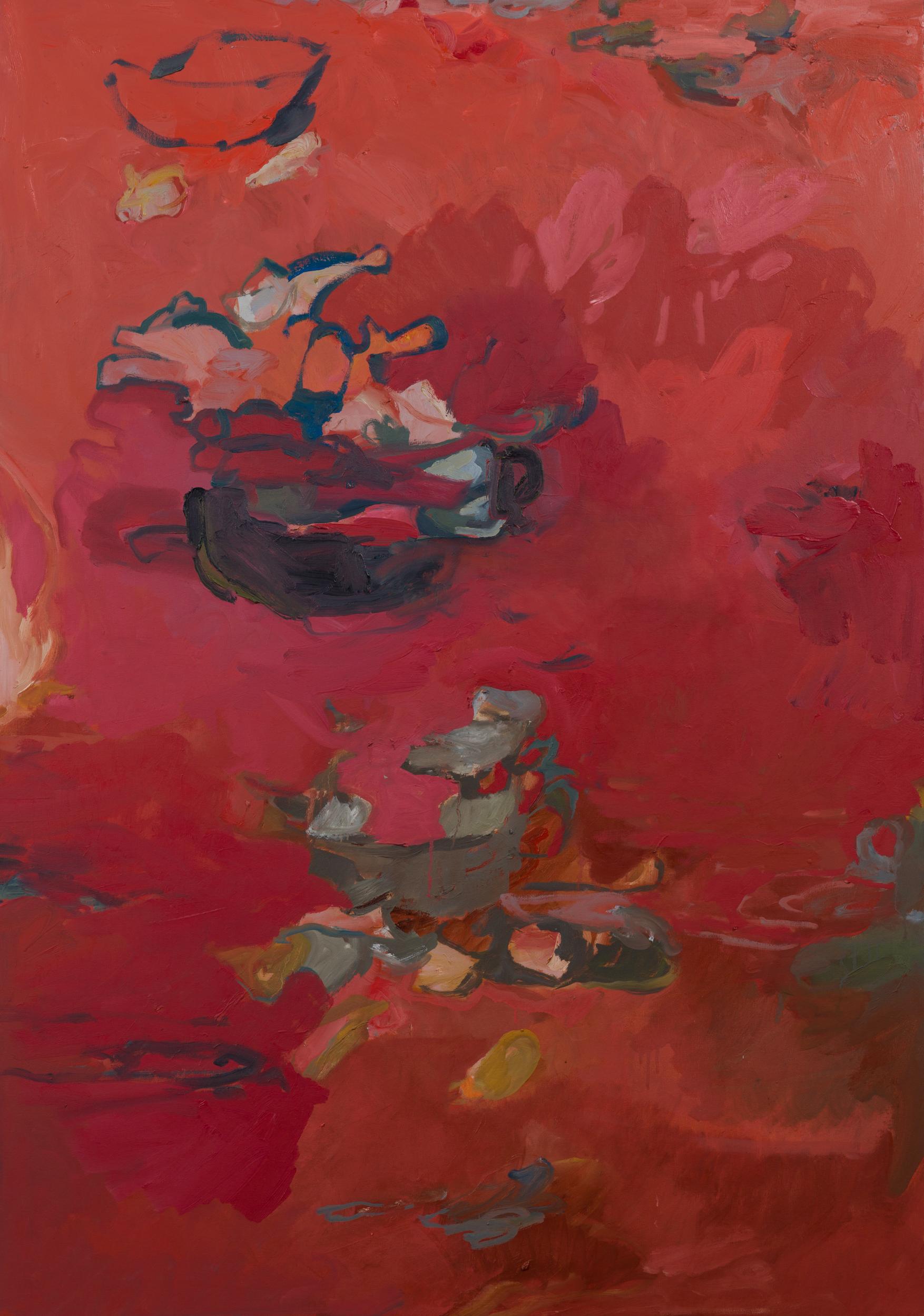 "Spirit Feast, 54 x 36"" Oil on Canvas 2019"