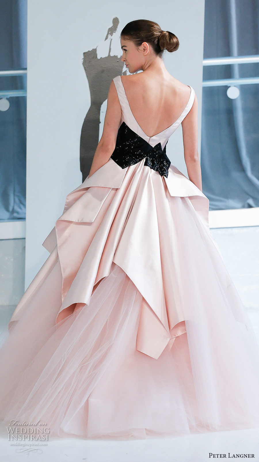 peter-langner-spring-2018-bridal-sleeveless-v-neck-black-accent-simple-pink-princess-ball-gown-wedding-dress-open-v-back-chapel-train-01-bv.jpg