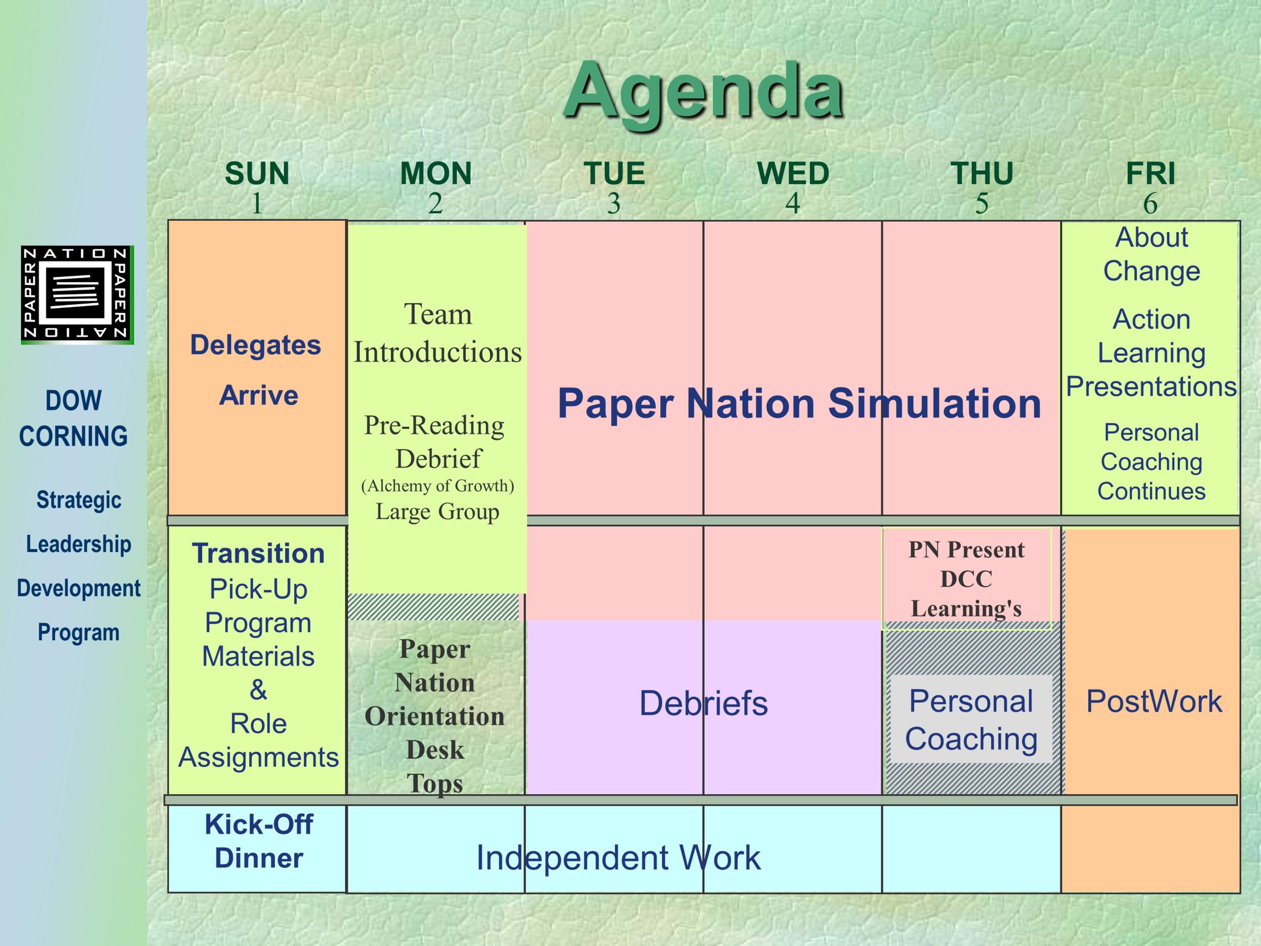 SLDP program Agenda