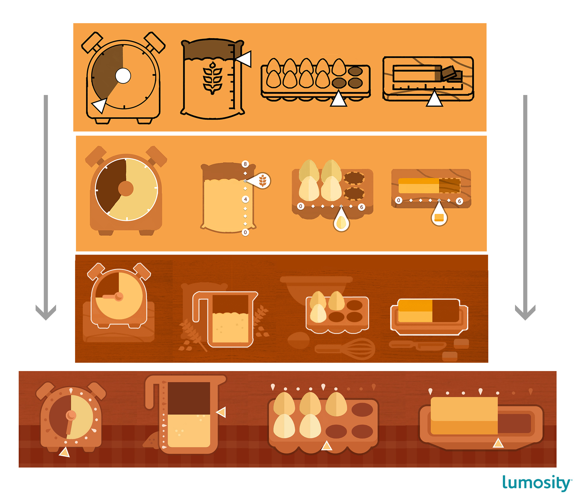 UI design for the measuring utensils.