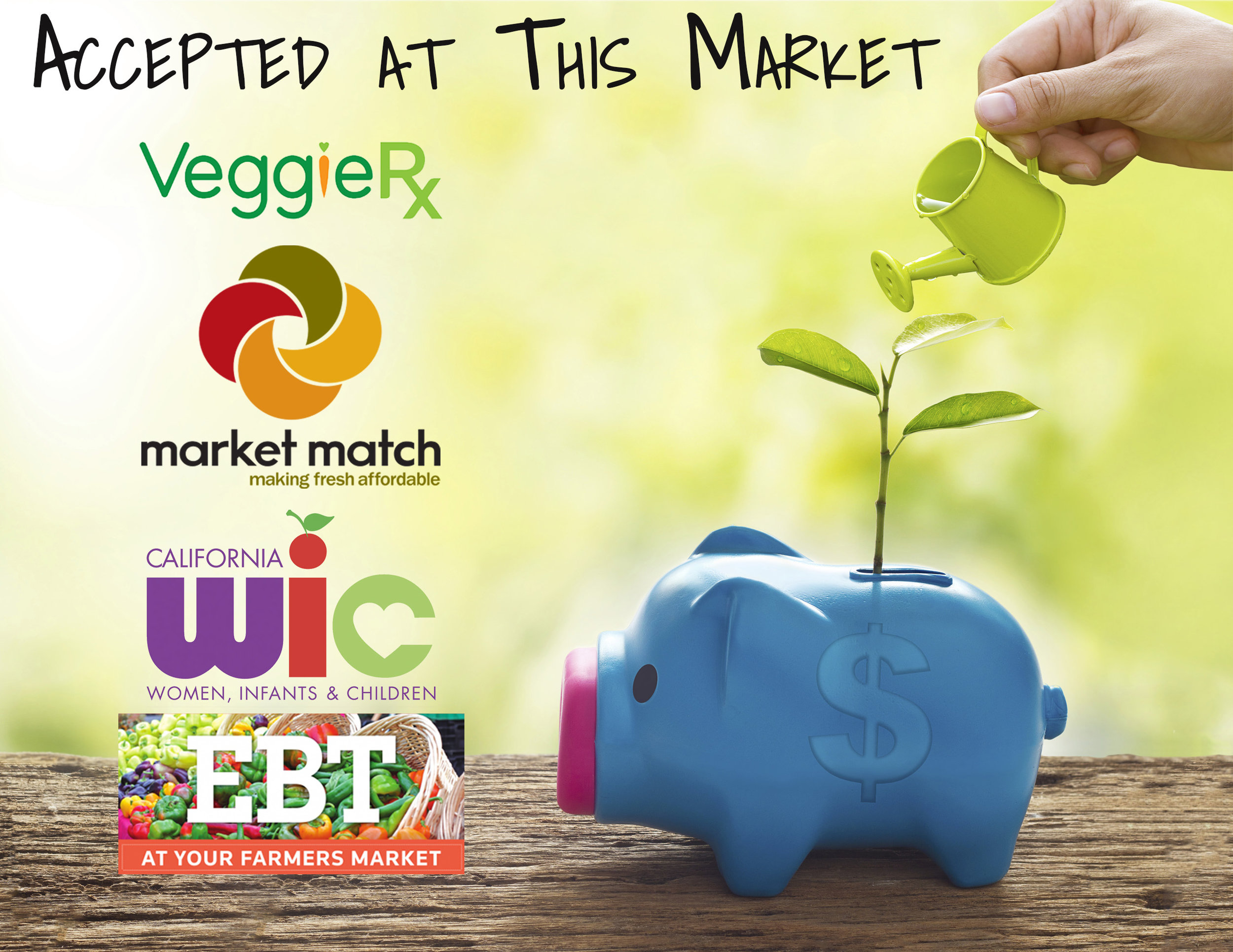 - EBT, WIC & Match Program are Accepted:Thanks to the Market-Match Grant, EBT customers can now receive a dollar for dollar match, up to $10 free to spend on fruits and vegetables at Castro Valley's Farmers' Market!