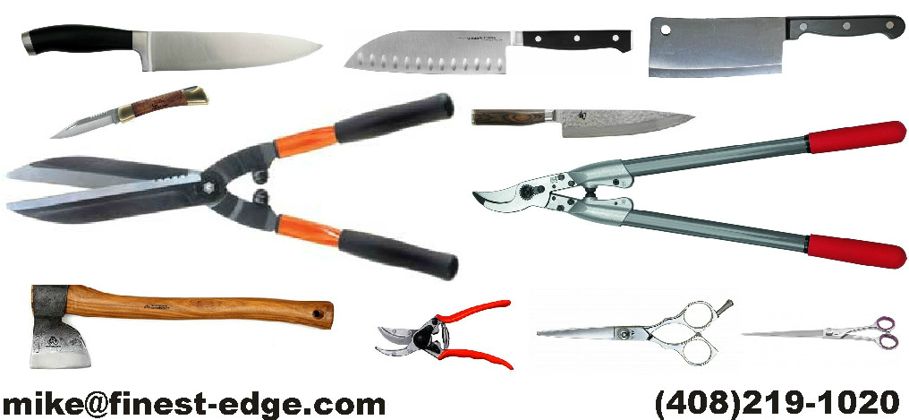 Knife Sharpening Every 1st Saturday of the Month, (except in Nov and Dec Holiday months, check online  http://finest-edge.com/ )