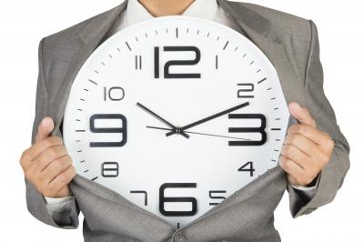 Time Management Businessman Suit Clock