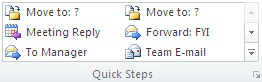 Microsoft Outlook Quick steps Image 2