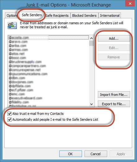 Outlook Junk Filter Image 4