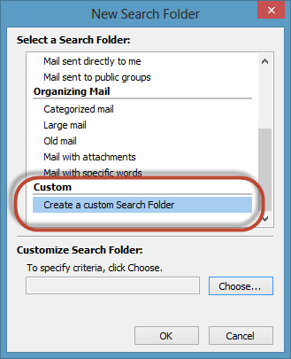 Outlook Search Folders Screenshot 4