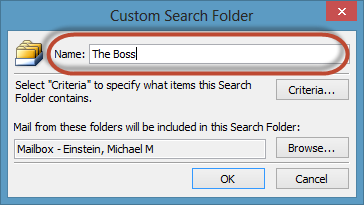 Outlook Search Folders Screenshot 5