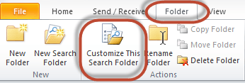 Outlook Search Folders Screenshot 9