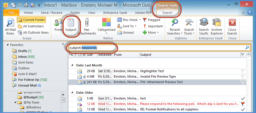 Outlook Search Tools Screenshot6