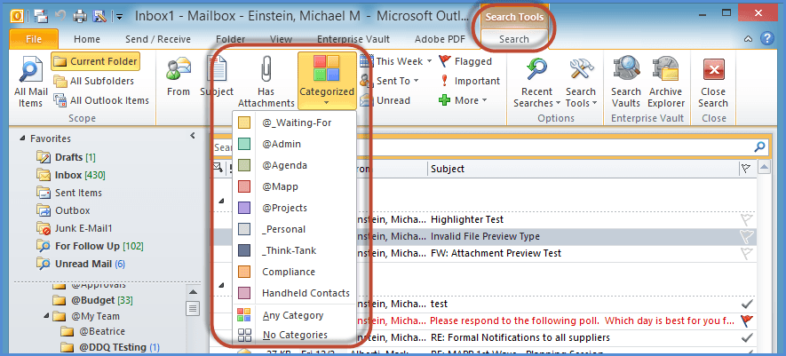 Outlook Search Tools Screenshot7