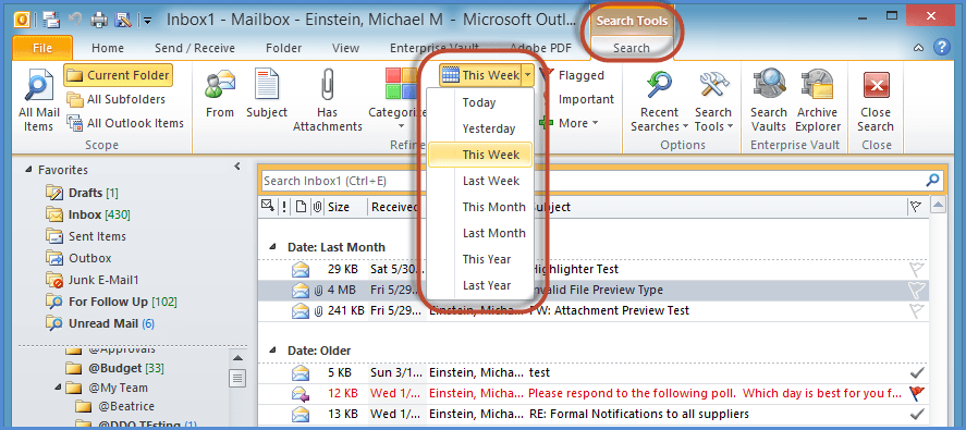 Outlook Search Tools Screenshot8