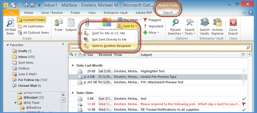 Outlook Search Tools Screenshot9