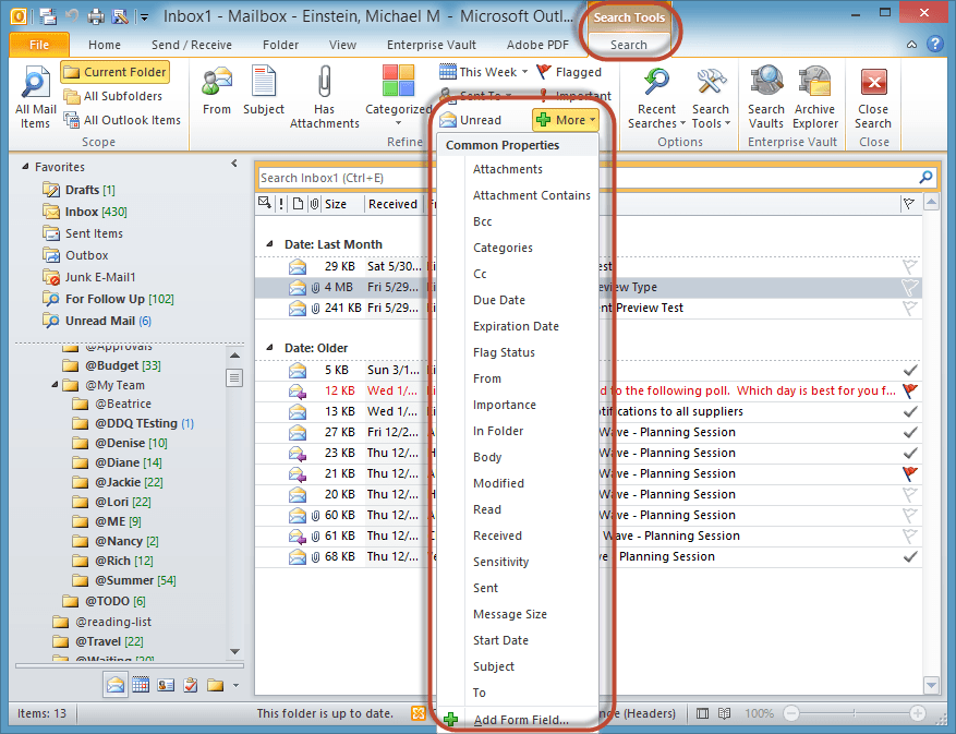 Outlook Search Tools Screenshot10