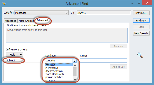 Using Outlook Advanced Find — Email Overload Solutions