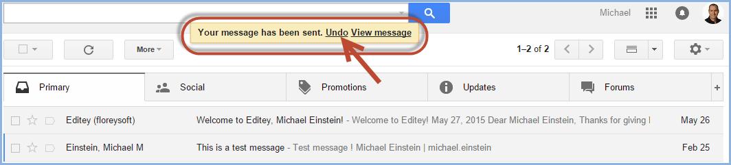 Gmail Undo Send Screenshot5