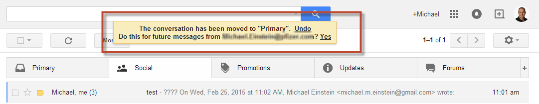 Gmail Tabs Move to Primary Tab