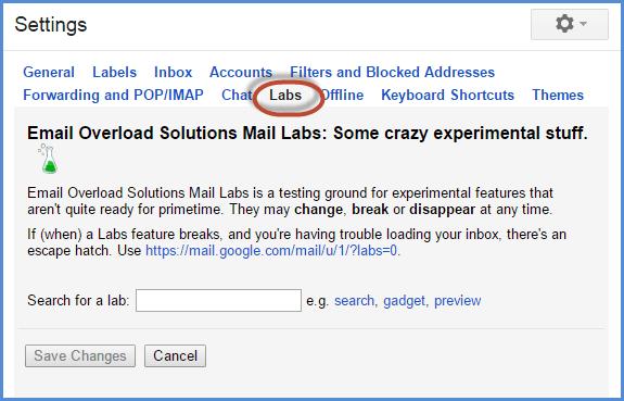 Gmail Quick Links Screenshot2