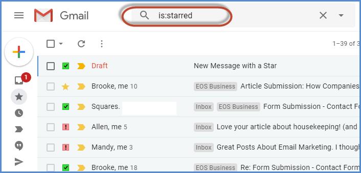 Gmail Stars Feature Screenshot19