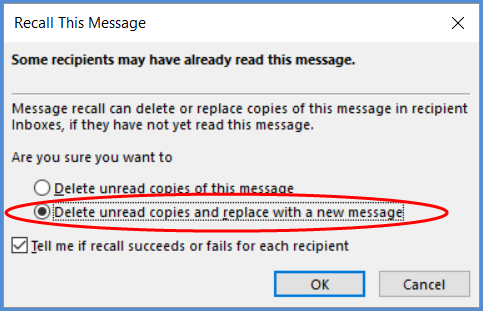 How to (Try To) Use the Outlook Recall Feature — Email Overload