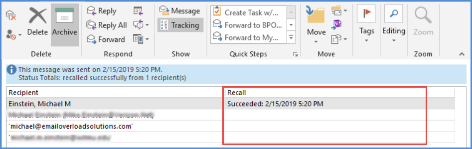 How To Retrieve Email In Outlook >> How To Try To Use The Outlook Recall Feature Email
