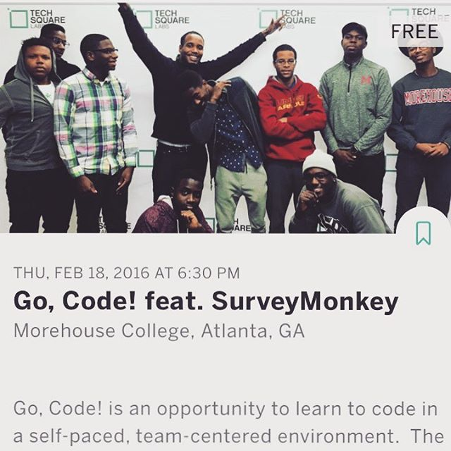 Go, Code! This Thursday learn to code Python and get technical interview tips from the #SurveyMonkey team! Link in bio! #BlackMenCode #startups #atlanta #tech #entrepreneur #python #hack #github #code #diversity