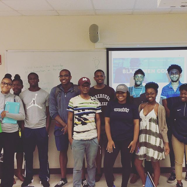 Pumped about our Web Development Fundamentals course we kicked off this week with @morehouse1867 and @spelman_college ! #HTML5 #CSS3 #JavaScript #JSON #BlackMenCode #diversity #tech #entrepreneurship #startup #womenwhocode #dev