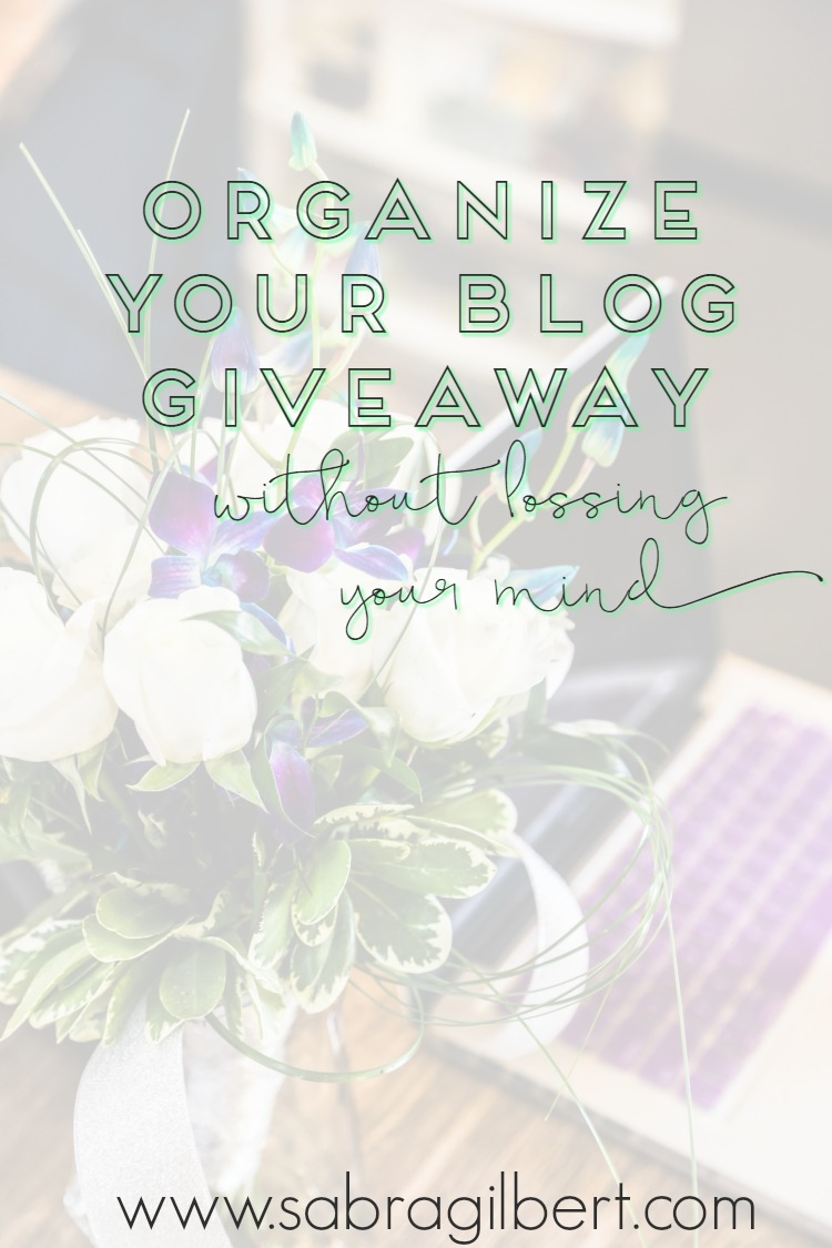 Organize your blog giveaway! || Becoming Sabra Gilbert