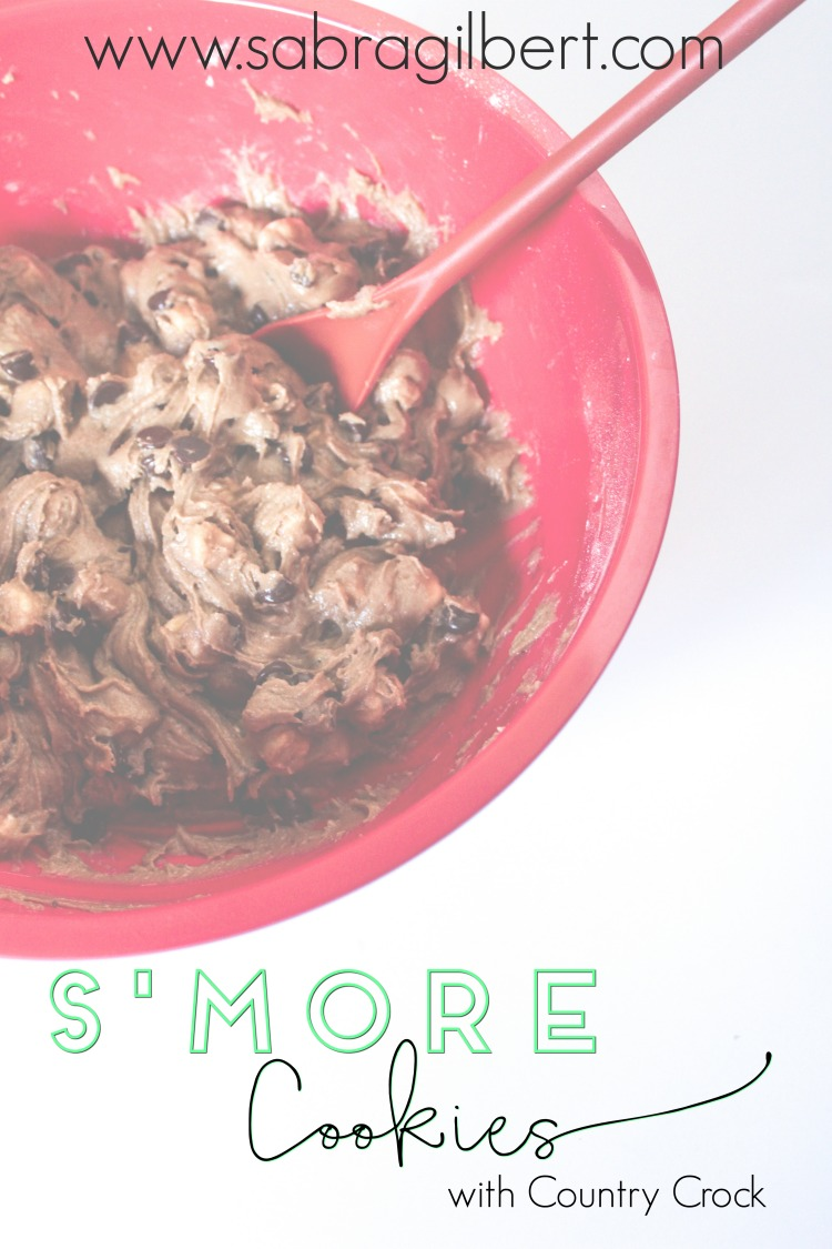 S'more Cookies || Becoming Sabra Gilbert - Make yummy S'more cookies with Country Crock!