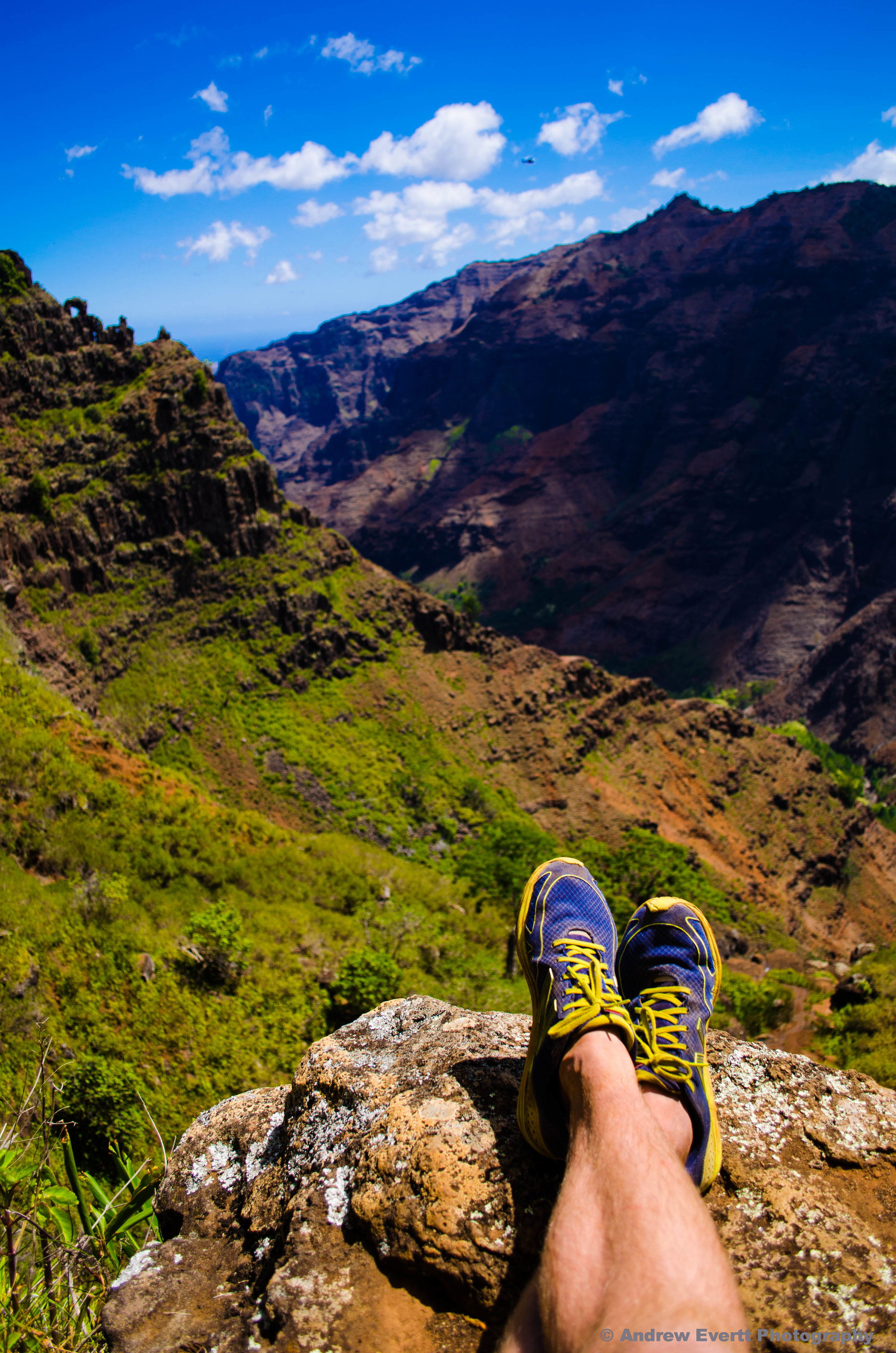 The view overlooking the Waimea Canyon from the end of the Canyon Trail