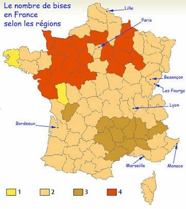 La bise en France.