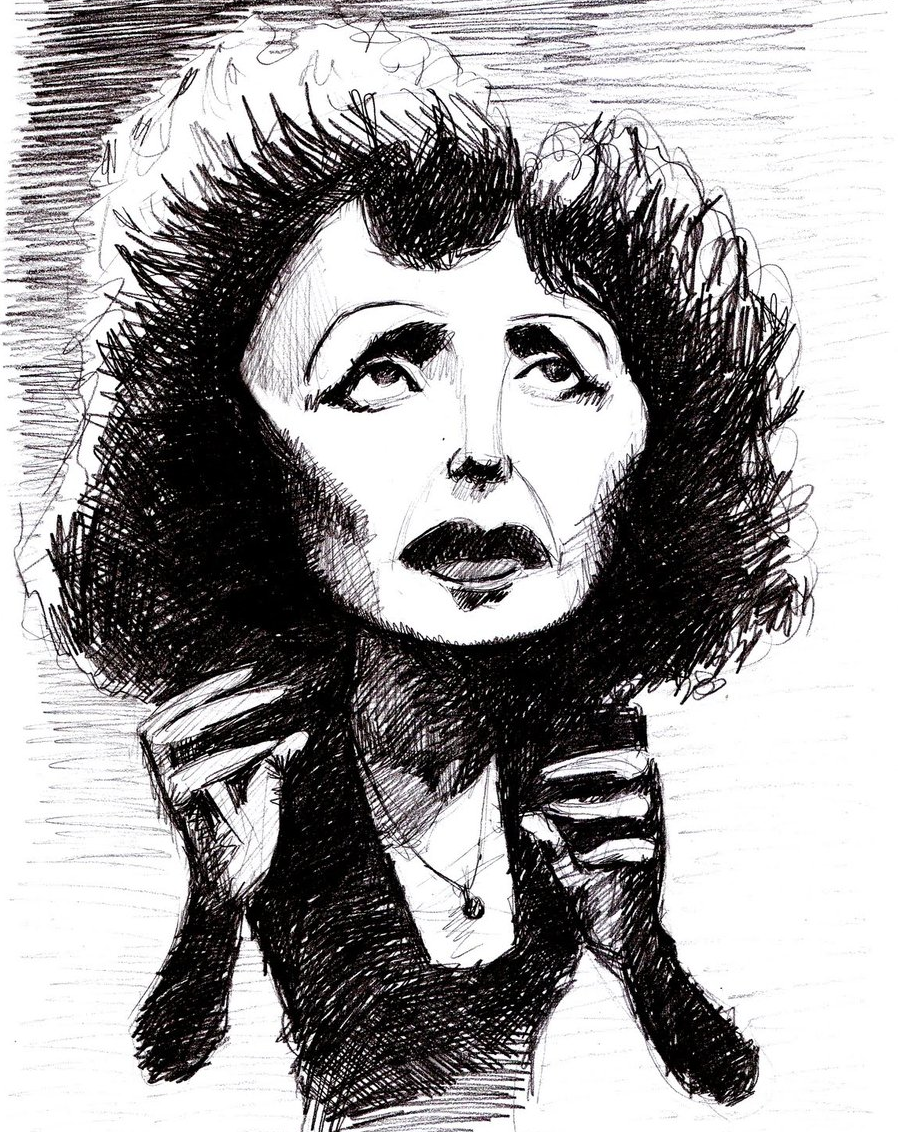 edith piaf drawing
