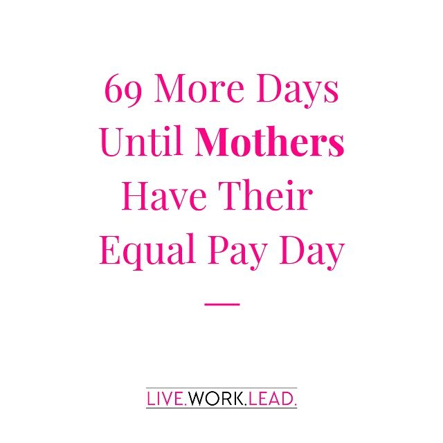 Just dropping this reminder... Equal pay for All Moms vs. All Dads is June 10, 2019.  That's 11 days LATER than last year. ⠀⠀⠀⠀⠀⠀⠀⠀⠀ It's also important to recognize that this equal pay day for moms varies widely across ethnicities. And quite frankly is even difficult to fully grasp due to the amount of #invisiblework women, but particularly mothers do. ⠀⠀⠀⠀⠀⠀⠀⠀⠀ When it comes to the gender pay gap, women speaking up and asking for more will barely scratch the surface! ⠀⠀⠀⠀⠀⠀⠀⠀⠀ One major gap is caretaking bias!  If we can do more to support working families through providing better access to care, back-up care, equal paid parental and caregiving leave. ⠀⠀⠀⠀⠀⠀⠀⠀⠀ Flexible work schedules that allows caregivers to be there for their families and their jobs makes a significant impact as well! ⠀⠀⠀⠀⠀⠀⠀⠀⠀ If your company is celebrating equal pay day today with a discussion, panel, presentation, raise your hand and ask them how they are planning to address the caregiving crisis and it's impact on the pay gap!  You may even want to drop that 64 million millennials will become parents over the next 10 years, so the time is now! ⠀⠀⠀⠀⠀⠀⠀⠀⠀ #equalpayday2019 #employeewellbeing #paidparentalleave #genderpaygap #balanceiseverything #werkingmama #werkwerkwerk #momswhowork #maternityleaveover #balanceisbullshit #findyourbalance #nevernotamom #makeworkworkforyou #liveworklead