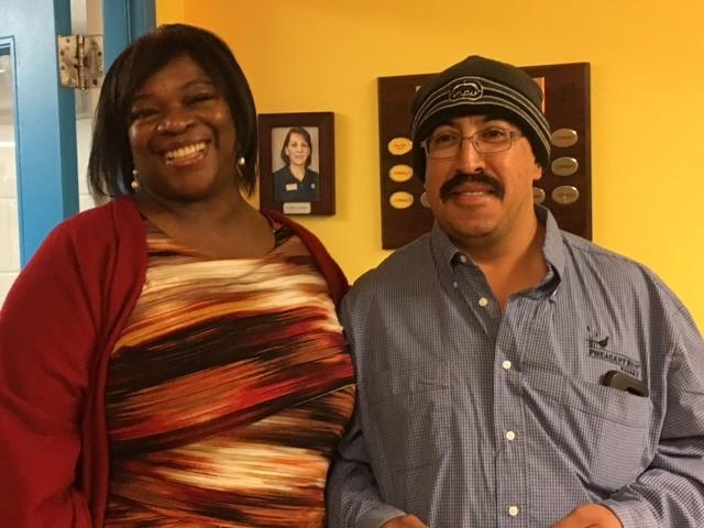 Patricia Quinn (Director of HR) & Roberto Castillo