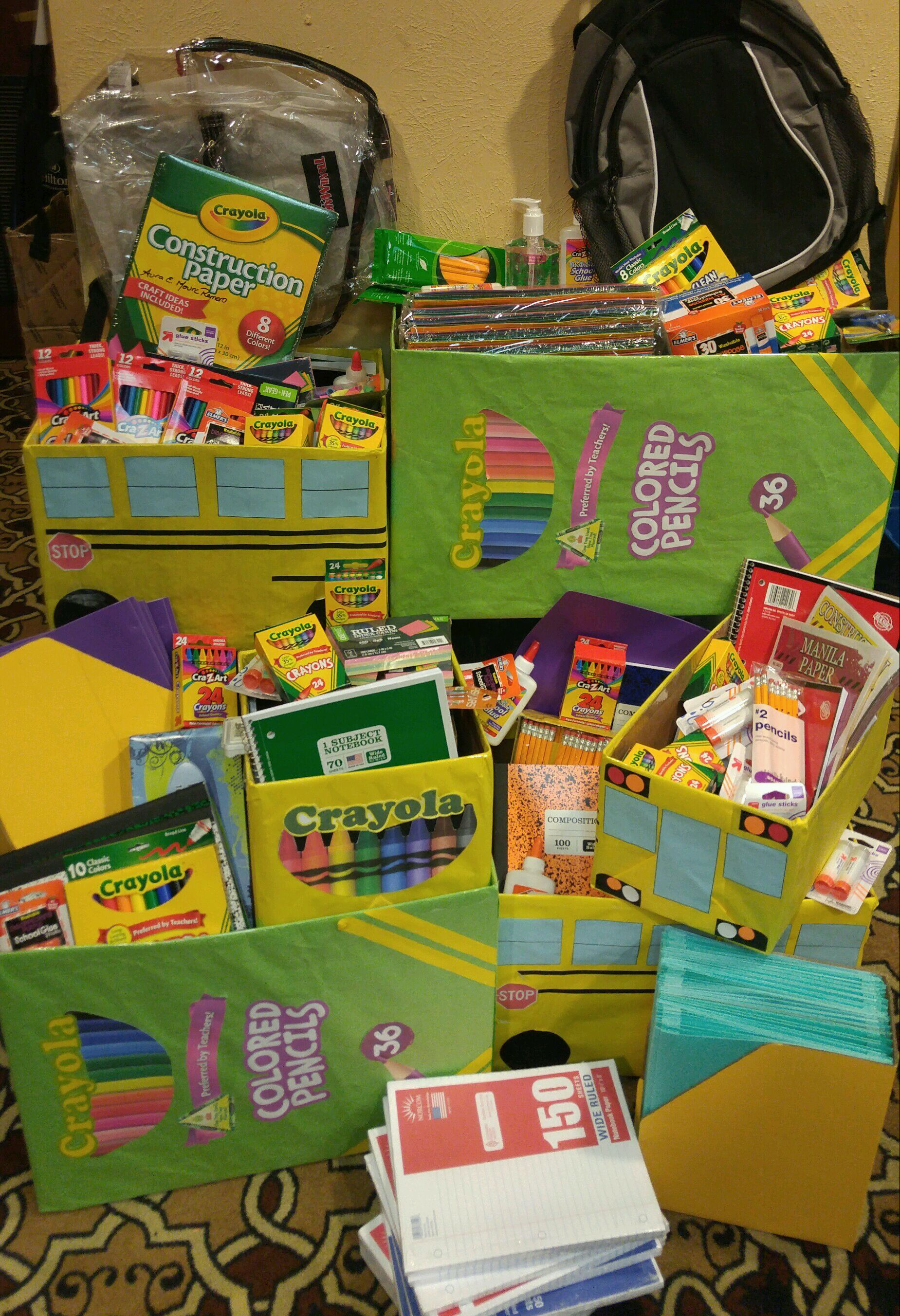 We are excited to present the items to a local school in need! - A HUGE ''thank you