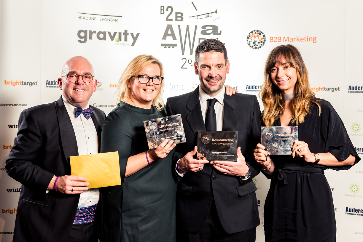 L to R: Dr David Cox - CEO, Verity Russell - Account Director, Richard Merry - Commercial Director, Jill Alongi - Account Manager