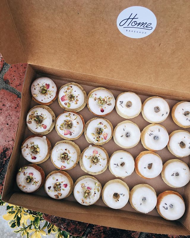 Still taking pre-orders for Mother's Day gift boxes! Flavors will include Pistachio Orange Blossom, Rose Earl Grey and Lavender Lemon. Order online via link in bio to secure your box of 6! Pick ups will be at the new @native_poppy shop in Solana Beach so come get flowers + donuts to gift your mamas!
