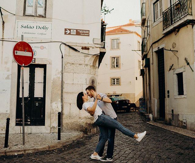 Walking & dancing through Alfama  streets with Valeria & Luis 🖤 . Around every corner or steep climb, is a delightful plaza, a trendy café, an independent shop or panoramic viewpoint. I can't wait to start editing 🖤 . . . . @valeriazschaeck . . . #belovedstories #lisbonweddingphotographer #destinationweddingphotographer #looklikefilm #radlovestories #dirtybootsandmessyhair #couplesgoals #ontario #destinationwedding #torontoweddingphotographer #muchlove_ig#adventureengagement #elopetoronto#wildandlovecouples#