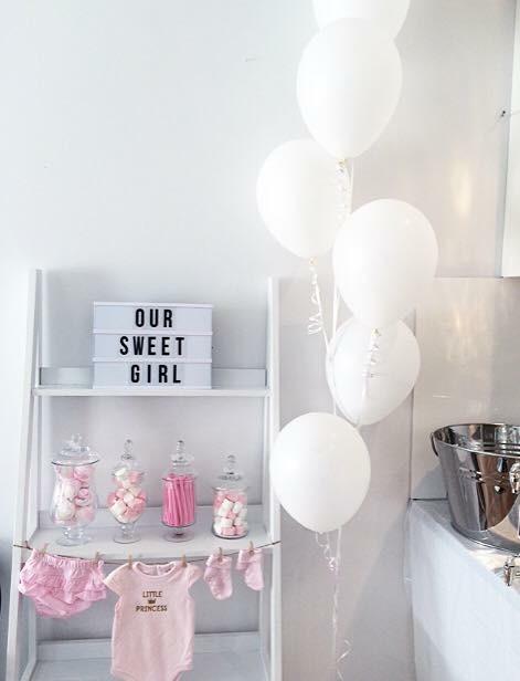 Candy Buffet Stand - Kmart Buffet Jars & Lollies - Kmart Letter Light Box - Kmart String - Spotlight Pegs - Typo Baby Clothes - Target