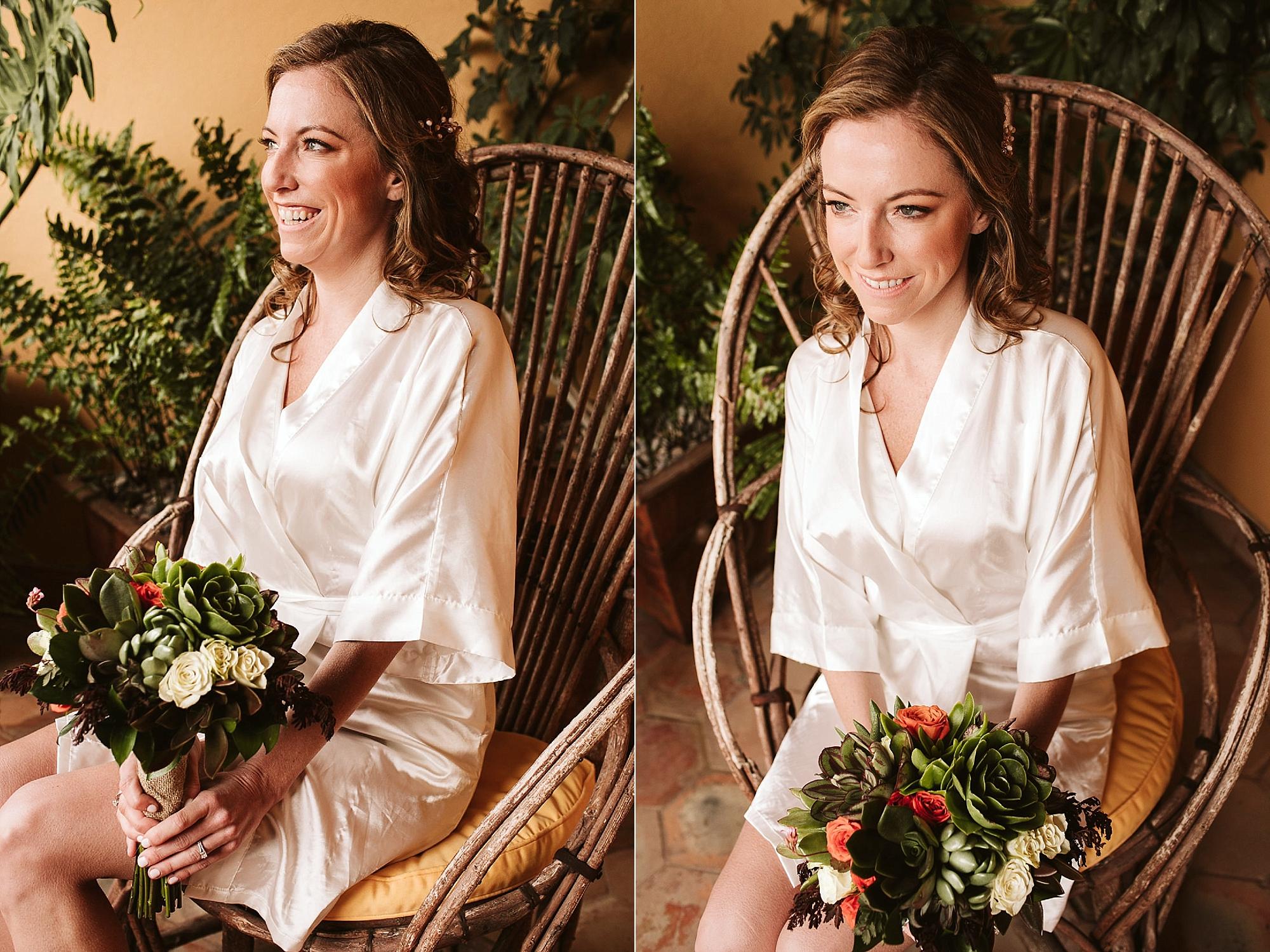 Bride getting ready san miguel de allende