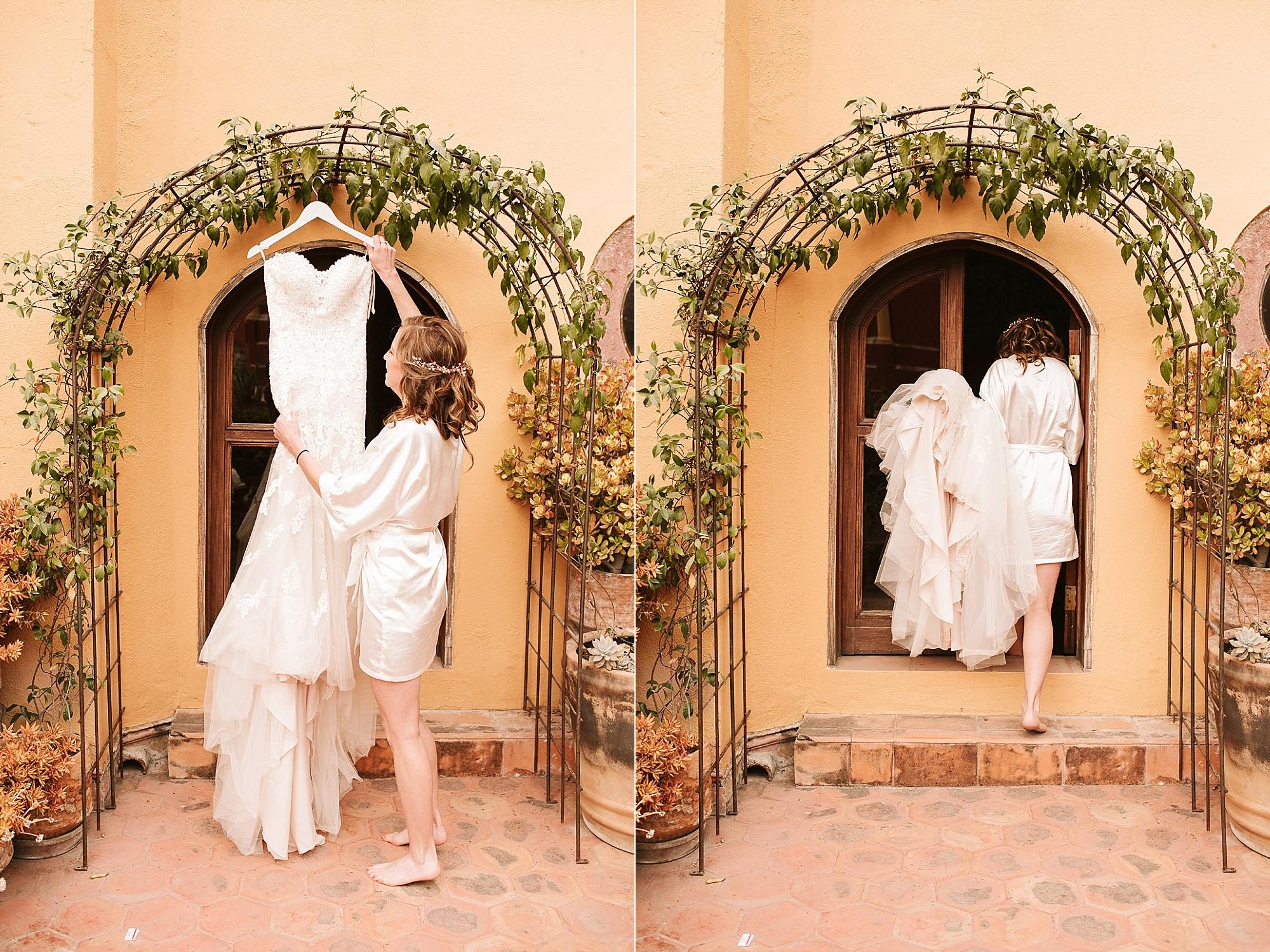 casa chorro wedding dress